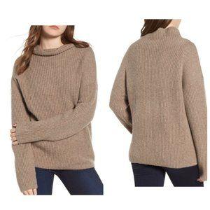 Chelsea28 Tan Oversized Funnel Neck Sweater